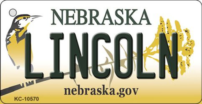 Lincoln Nebraska State License Plate Novelty Wholesale Key Chain KC-10570