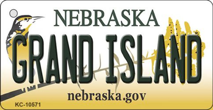 Grand Island Nebraska State License Plate Novelty Wholesale Key Chain KC-10571