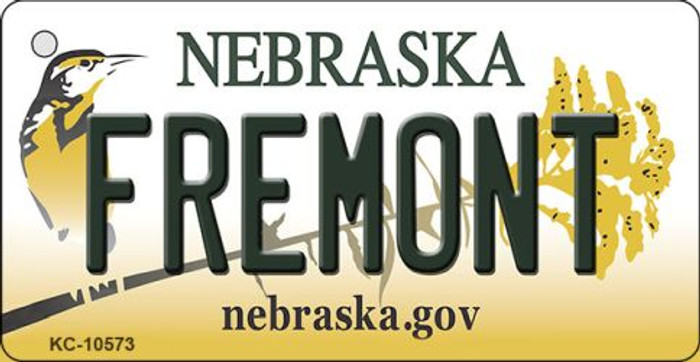 Fremont Nebraska State License Plate Novelty Wholesale Key Chain KC-10573