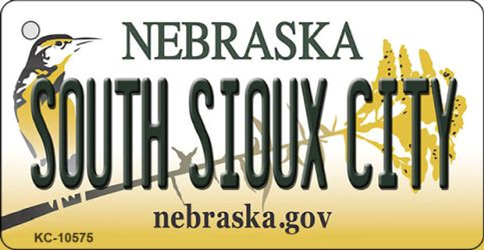 South Sioux City Nebraska State License Plate Novelty Wholesale Key Chain KC-10575