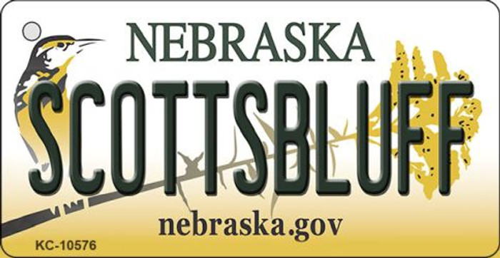 Scottsbluff Nebraska State License Plate Novelty Wholesale Key Chain KC-10576