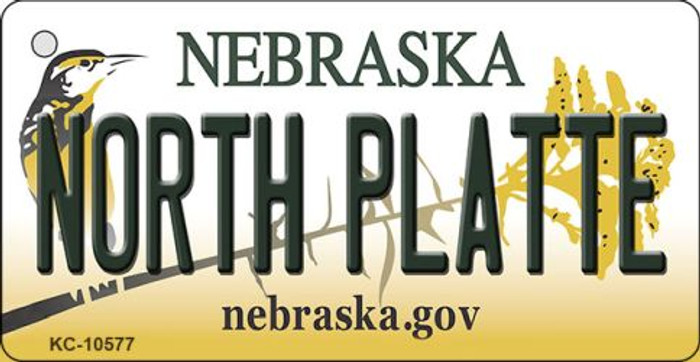 North Platte Nebraska State License Plate Novelty Wholesale Key Chain KC-10577