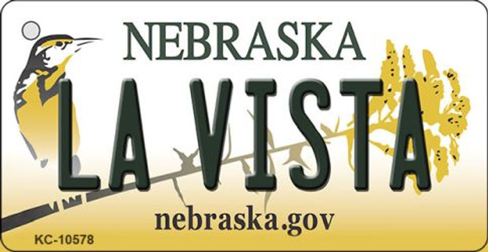 La Vista Nebraska State License Plate Novelty Wholesale Key Chain KC-10578