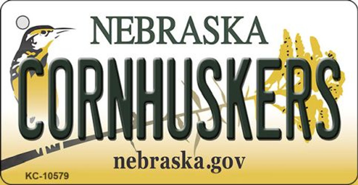 Cornhuskers Nebraska State License Plate Novelty Wholesale Key Chain KC-10579
