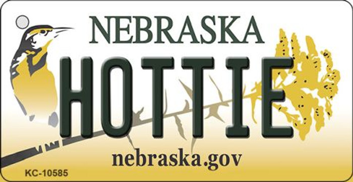 Hottie Nebraska State License Plate Novelty Wholesale Key Chain KC-10585