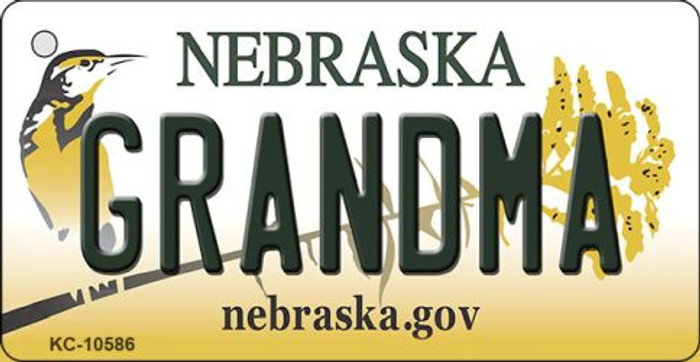 Grandma Nebraska State License Plate Novelty Wholesale Key Chain KC-10586