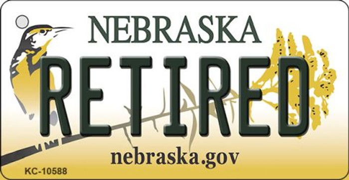 Retired Nebraska State License Plate Novelty Wholesale Key Chain KC-10588