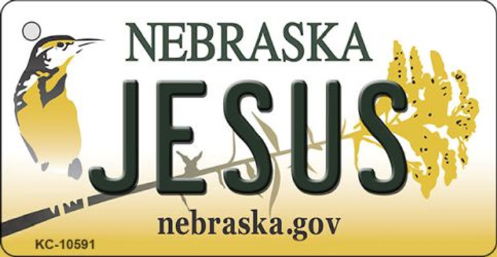 Jesus Nebraska State License Plate Novelty Wholesale Key Chain KC-10591