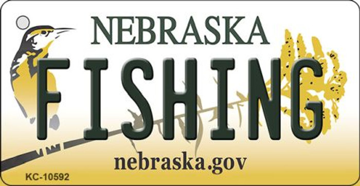 Fishing Nebraska State License Plate Novelty Wholesale Key Chain KC-10592