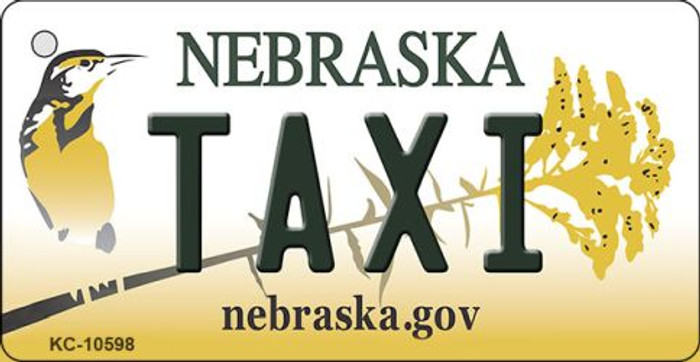 Taxi Nebraska State License Plate Novelty Wholesale Key Chain KC-10598