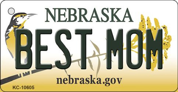 Best Mom Nebraska State License Plate Novelty Wholesale Key Chain KC-10605