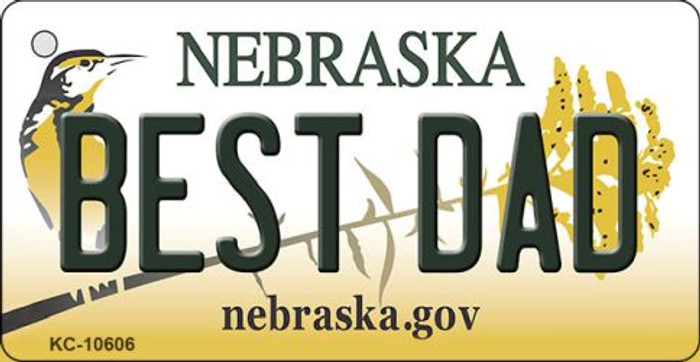 Best Dad Nebraska State License Plate Novelty Wholesale Key Chain KC-10606
