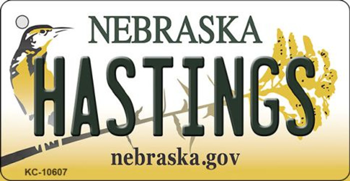 Hastings Nebraska State License Plate Novelty Wholesale Key Chain KC-10607