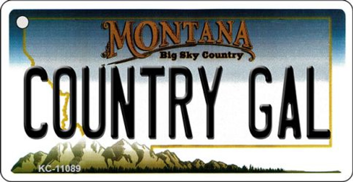 Country Gal Montana State License Plate Novelty Wholesale Key Chain KC-11089