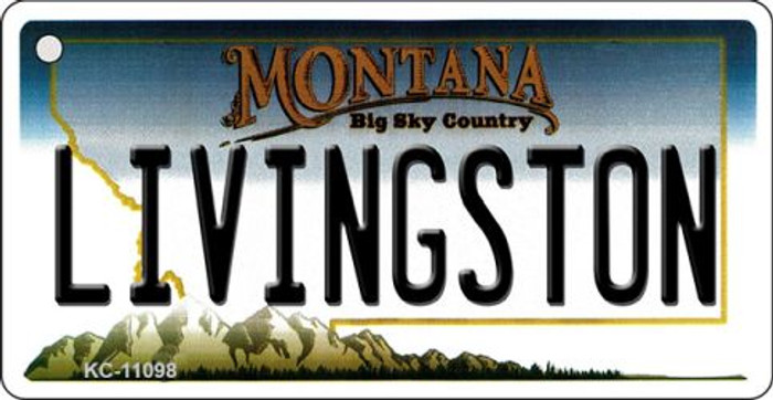 Livingston Montana State License Plate Novelty Wholesale Key Chain KC-11098
