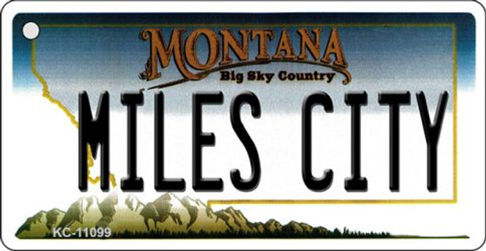 Miles City Montana State License Plate Novelty Wholesale Key Chain KC-11099