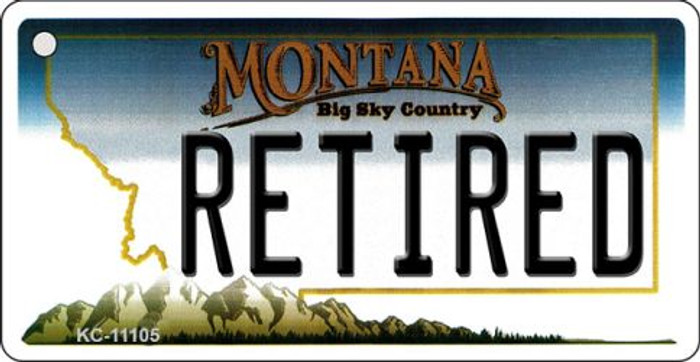 Retired Montana State License Plate Novelty Wholesale Key Chain KC-11105