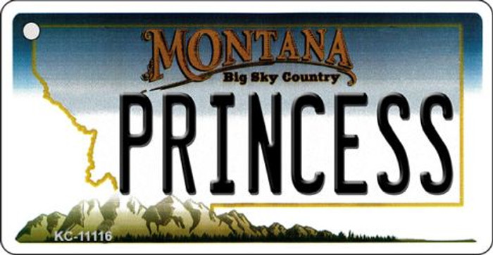 Princess Montana State License Plate Novelty Wholesale Key Chain KC-11116