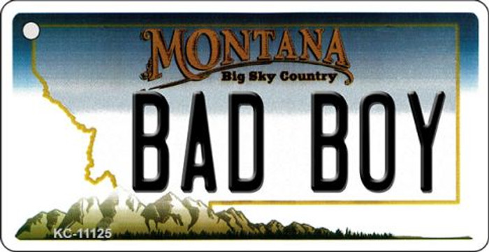 Bad Boy Montana State License Plate Novelty Wholesale Key Chain KC-11125