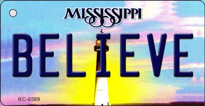 Believe Mississippi State License Plate Wholesale Key Chain KC-6589
