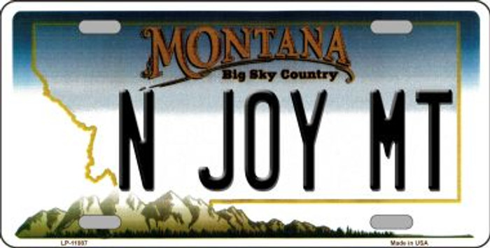 N Joy MT Montana State Novelty Wholesale License Plate LP-11087