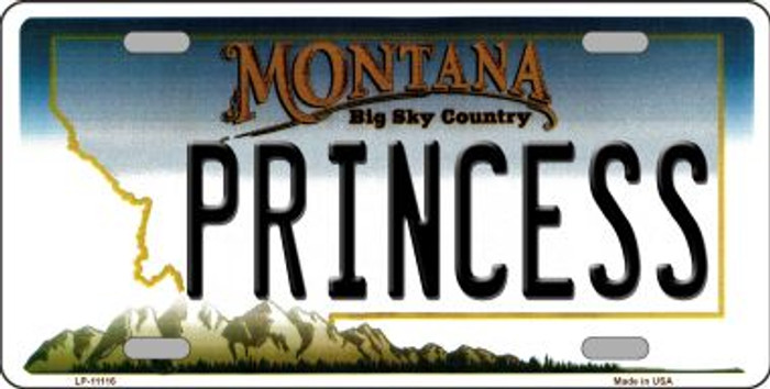 Princess Montana State Novelty Wholesale License Plate LP-11116