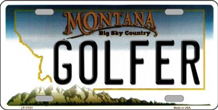 Golfer Montana State Novelty Wholesale License Plate LP-11121