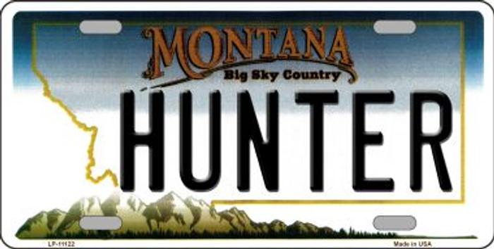 Hunter Montana State Novelty Wholesale License Plate LP-11122