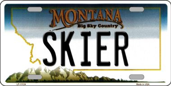 Skier Montana State Novelty Wholesale License Plate LP-11124