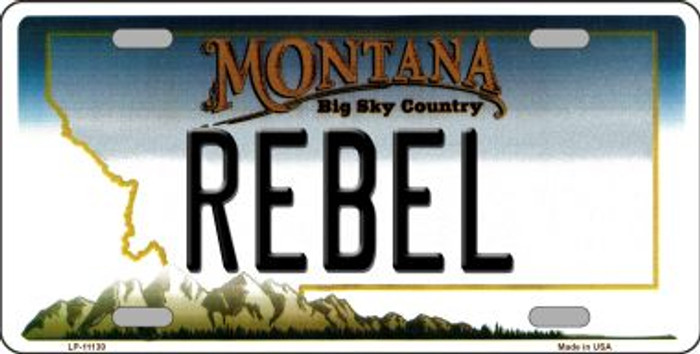 Rebel Montana State Novelty Wholesale License Plate LP-11130