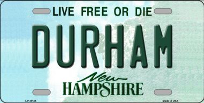 Durham New Hampshire State Wholesale License Plate LP-11145