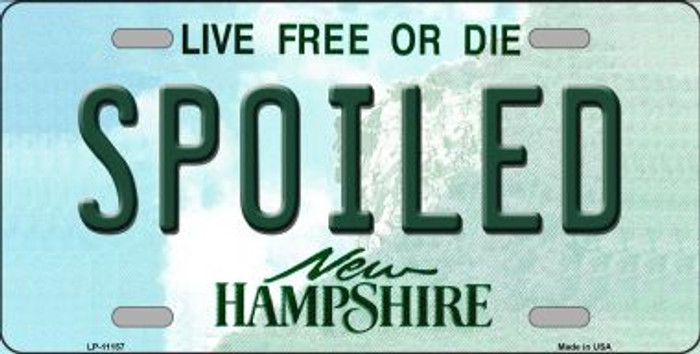 Spoiled New Hampshire State Wholesale License Plate LP-11157