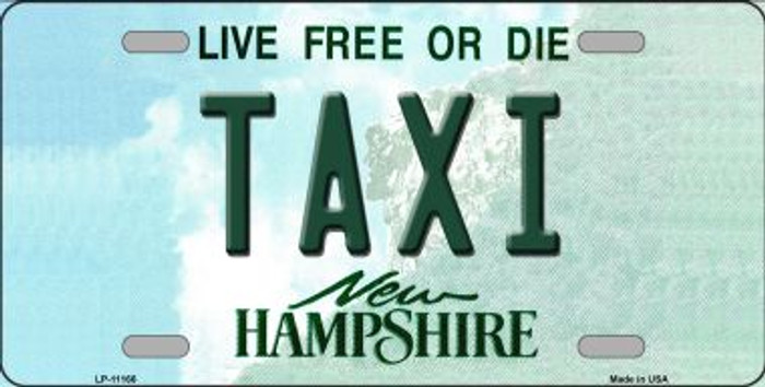 Taxi New Hampshire State Wholesale License Plate LP-11166