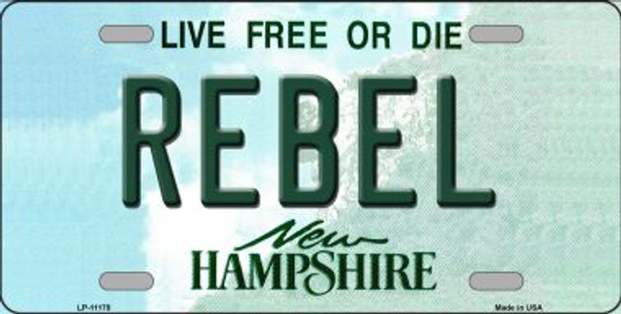 Rebel New Hampshire State Wholesale License Plate LP-11178