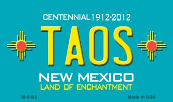 Taos Teal New Mexico Novelty Wholesale Magnet