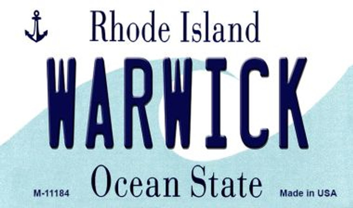 Warwick Rhode Island State License Plate Novelty Wholesale Magnet M-11184