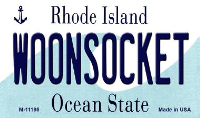 Woonsocket Rhode Island State License Plate Novelty Wholesale Magnet M-11186