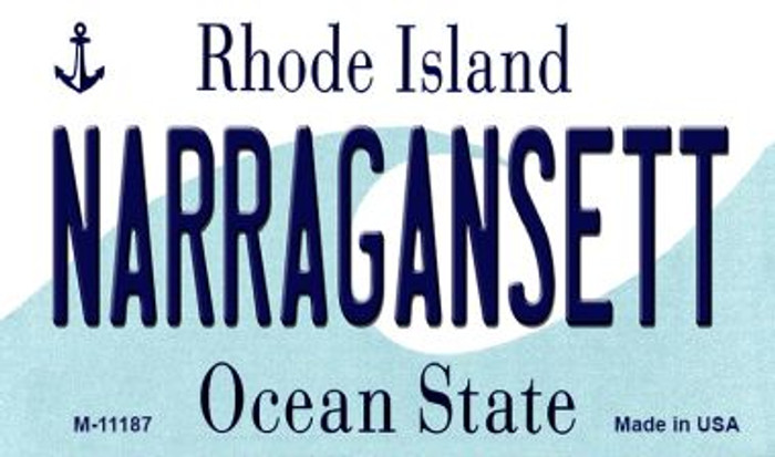 Narragansett Rhode Island State License Plate Novelty Wholesale Magnet M-11187
