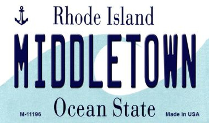 Middletown Rhode Island State License Plate Novelty Wholesale Magnet M-11196