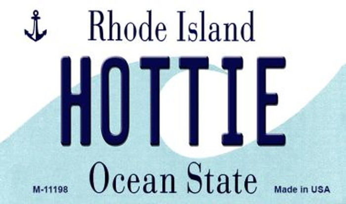 Hottie Rhode Island State License Plate Novelty Wholesale Magnet M-11198