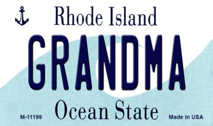 Grandma Rhode Island State License Plate Novelty Wholesale Magnet M-11199
