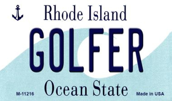 Golfer Rhode Island State License Plate Novelty Wholesale Magnet M-11216