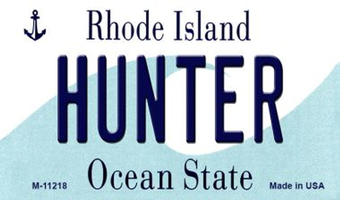 Hunter Rhode Island State License Plate Novelty Wholesale Magnet M-11218