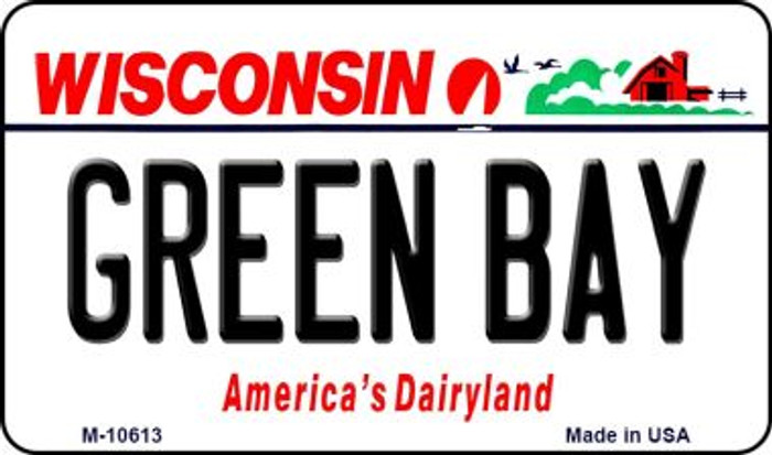 Green Bay Wisconsin State License Plate Novelty Wholesale Magnet M-10613