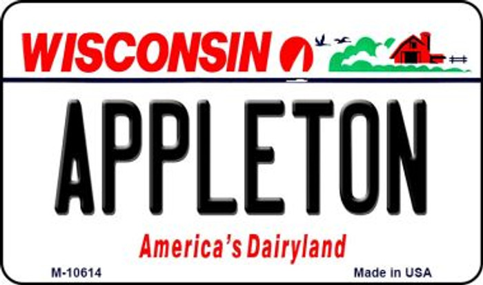 Appleton Wisconsin State License Plate Novelty Wholesale Magnet M-10614