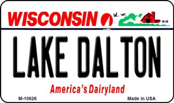 Lake Dalton Wisconsin State License Plate Novelty Wholesale Magnet M-10626