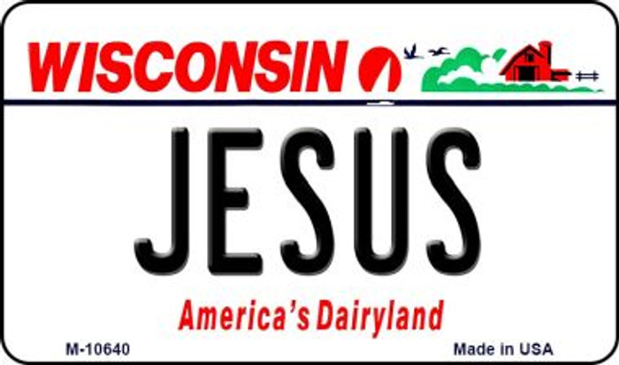 Jesus Wisconsin State License Plate Novelty Wholesale Magnet M-10640