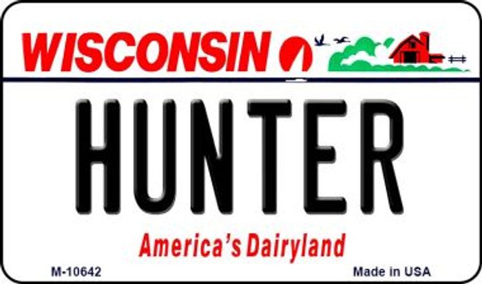 Hunter Wisconsin State License Plate Novelty Wholesale Magnet M-10642