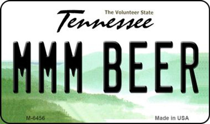 MMM Beer Tennessee State License Plate Wholesale Magnet M-6456