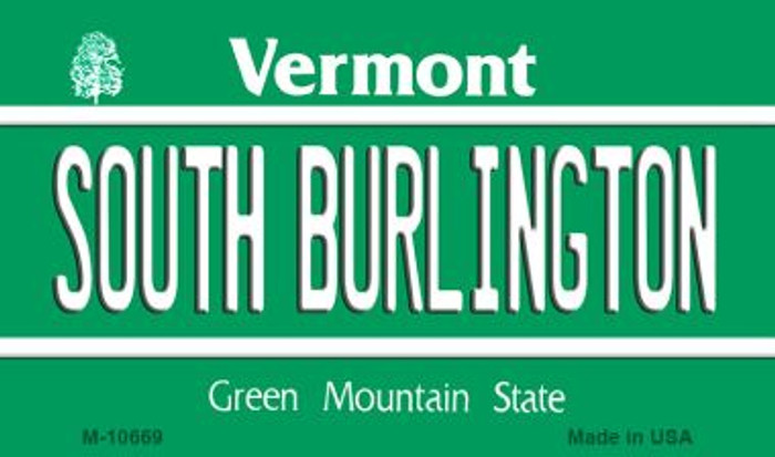 South Burlington Vermont State License Plate Novelty Wholesale Magnet M-10669